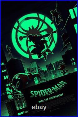 SPIDERMAN INTO THE SPIDERVERSE VARIANT Matt Ferguson Florey 24x36 Glow in Dark