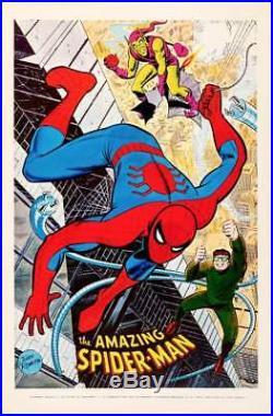 SPIDERMAN MARVELMANIA 1970 Vintage Marvel Comics poster 23x35 JOHN ROMITA