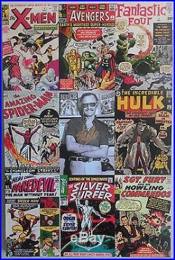 STAN LEE Signed Huge 20x30 Canvas Art AMAZING SPIDER-MAN 1 X-Men AVENGERS Hulk