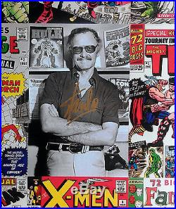 STAN LEE Signed Huge 20x30 Canvas Art AMAZING SPIDER-MAN Annual 1 X-Men Avengers