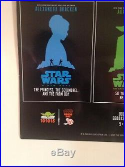 STAR WARS Poster Disney LucasFilm Press Comic Con 2015 Books Trilogy Autographed