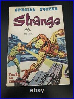 STRANGE N° 56 poster X Men Attaché Encarté E. O LUG 1974 Marvel