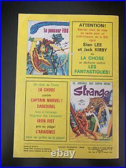 STRANGE N° 70 poster Attaché Encarté E. O LUG 1975 TTBE