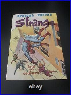 STRANGE N° 70 poster SPIDERMAN Attaché Encarté E. O LUG 1975