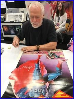 SUPERMAN POSTER Hand Signed by DREW STRUZAN Vintage Thought Factory 1977