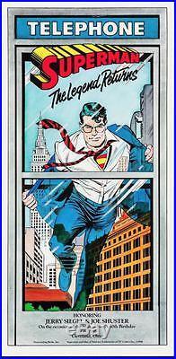 SUPERMAN THE LEGEND RETURNS 1988 Vintage DC comics poster 18x37 Double sided NM