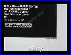SUPERMAN THE MOVIE CHRISTOPHER REEVE C-10 POSTER MINT MUSEUM LinenMOUNTED