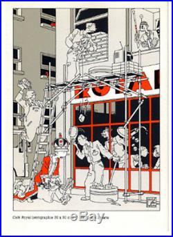 SWARTE SERIGRAPHIE CAFE ROYAL-750 ex. N°/signés (1987)+CARTE POSTALE