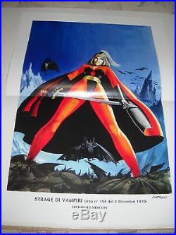 Satanik Portfolio Litografie + Poster Manifesto Luigi Corteggi Autografato