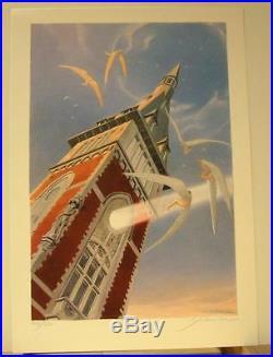 Schuiten serigraphie Collegiale Ste Gertrude Nivelles 120 ex signe