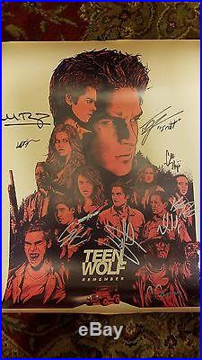 Sdcc 2017 Teen Wolf Signed Cast Poster, Mtv, San Diego Comic Con
