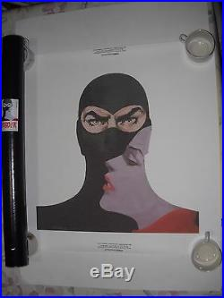 Serie Completa N. 5 Poster Manifesto Diabolik Eva Kant Tela Mycrom Tubo Gadget