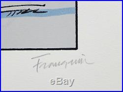 Sérigraphie André Franquin Gaston et Longtarin Le parcmètre 350ex signée 37,5x50