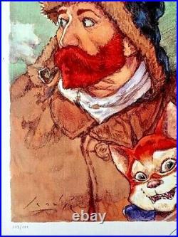 Sérigraphie BD VAN GOGH TL 111ex. N° & S. / G. Smudja Bordel Cabaret des Muses