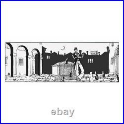 Sérigraphie Corto Maltese, Théâtre et les chats (100x40cm)