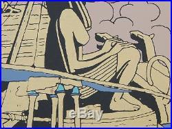 Sérigraphie JACOBS Blake et Mortimer La chambre d'Horus 70x100 cm