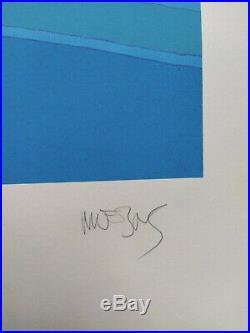 Sérigraphie Moebius (Jean Giraud) Le Mystère Rouge Numérotée Signée