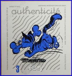 Sérigraphie ROBA Boule et Bill + certificat 100ex signé 55x75 cm