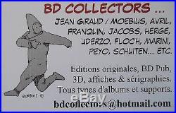Sérigraphie S&N 350ex LE BAISER Major Grubert & Dame Malvina MOEBIUS Jean GIRAUD