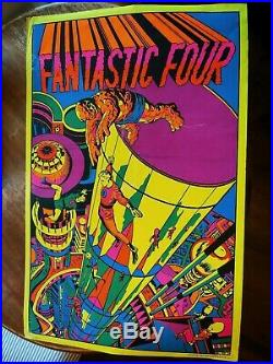 Set of 3 Third Eye Marvel Posters psychedelic 1970's Silver Surfer FF