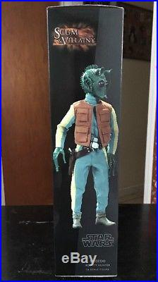 Sideshow Collectibles Excluisve Greedo Bouty Hunter With Wanted Poster