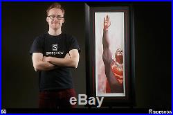 Sideshow DC Superman and Marvel Captain America Alex Ross Art Prints signed