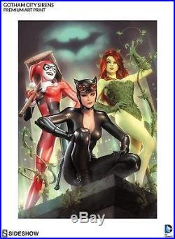 Sideshow Exclusive Gotham City Sirens Premium Art Print. Harley, Catwoman & Ivy