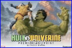 Sideshow Hulk vs Wolverine art print