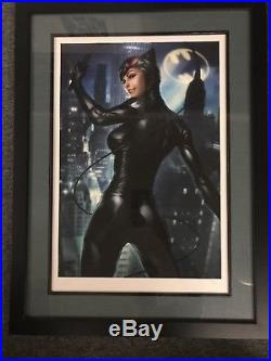 Sideshow Premium Art Print Catwoman Harley Quinn Stanley Lau Set Custom Framed