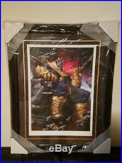Sideshow THANOS ON THRONE Framed Art PrintAvengers/Infinity War/Gauntlet, NEW