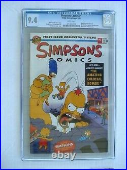 Simpsons Comics # 1 CGC 9.4 NM Pullout poster flip book