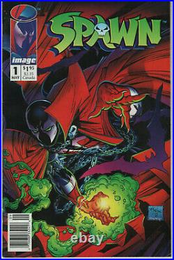 Spawn #1 1992 Image Comic Book 1st Appearance Newsstand Variant Poster Intact