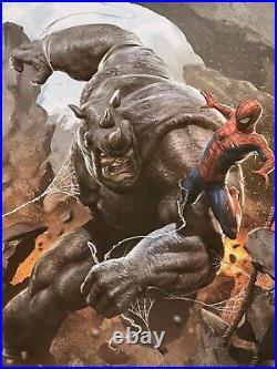 Spider-Man Vs Rhino Marvel Comic Book Art Print Poster Mondo Carlos Dattolis