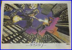 Spider-Man vs Green Goblin 1995 John Romita Alex Ross Signed Limited Poster VG