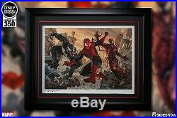 Spider-Man vs Venom & Carnage Sideshow Premium art print Framed