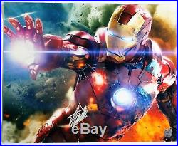 Stan Lee Autographed Singed IRON MAN Poster (Stan Lee Authenticated)