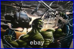 Stan Lee & Greg Horn Signed Incredible Hulk 11X17 Print JSA COA Avengers Marvel