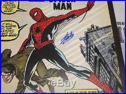 Stan Lee Signed Amazing Fantasy 15 Spiderman Comic Book 20x28 Poster PSA/DNA COA