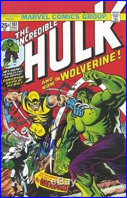 Stan Lee Signed Autographed Incredible Hulk #181 poster art print 1993 Wolverine
