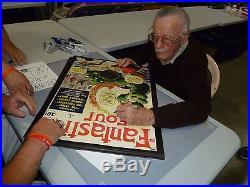 Stan Lee Signed Fantastic Four 4 #1 Comic Book 20x28 Poster PSA/DNA COA Marvel