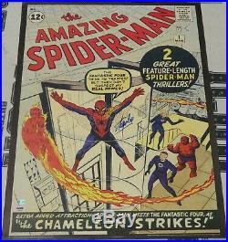 Stan Lee Signed Marvel 20x28 Poster PSA/DNA COA Amazing Spider-Man #1 Comic Book