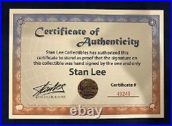 Stan Lee Smiling Photo Litho Signed by Stan Lee with COA! Very Limited MARVEL