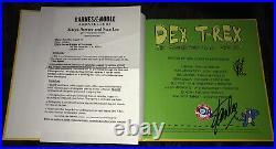 Stan Lee signed book marvel comics Dex T-Rex Avengers 1st ed poster photo proof