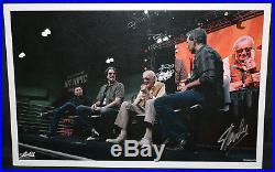 Stan Lee w Marc Silvestri, Todd McFarlane, & Jim Lee Print Signed by Stan Lee
