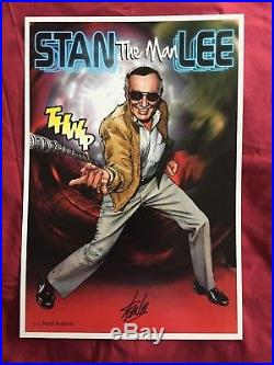 Stan The Man Lee Art Poster signed by Stan Lee with art by Neal Adams