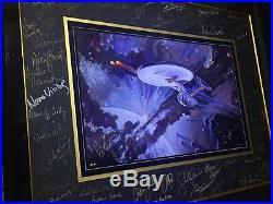 Star Trek Art Print Cast Signed Original Authorgraphed