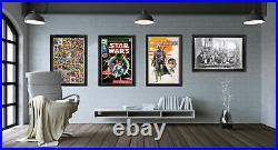 Star Wars The Empire Strikes Back Comic Book Cover Art Framed Art Print