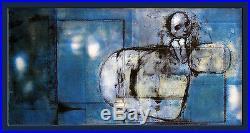 Stefano RICCI SERIGRAPHIE LA FILLE BLEUE 60 ex. N°/signés format 96 x 48 cm
