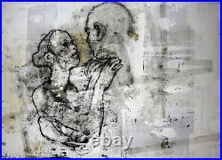 Stefano RICCI SERIGRAPHIE LE COUPLE AMOUREUX EA / SIGNE format 96 x 68 cm