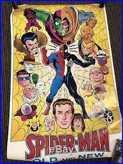 Super Rare vintage original 1984 Amazing Spider-man Old & New Marvel poster